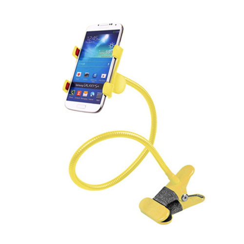 Car Desk Clip <font><b>clamp</b></font> Mount <font><b>Holder</b></font> for iPhone Android Cell <font><b>Phone</b></font> GPS Yellow