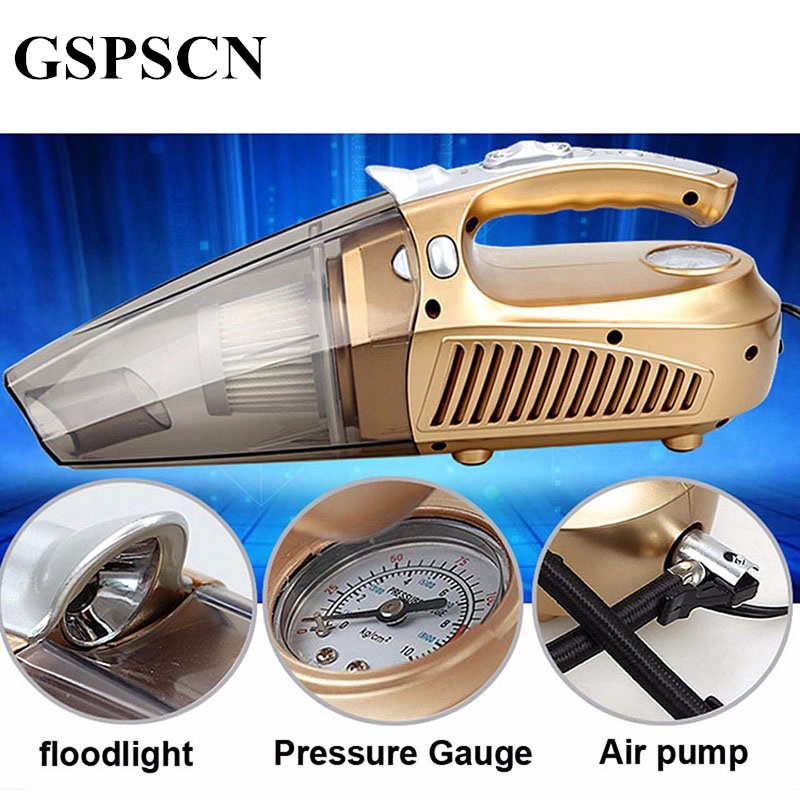 GSPSCN Multi function Portable 12v Air Compressor Car Tyre Inflator Wet and Pressure Pneumatic led Lighting
