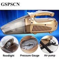 GSPSCN Multi Function Portable Car Vacuum Cleaner 12V 120W Wet And Aspirador Pressure Pneumatic Lighting Tire