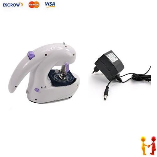 ФОТО Free Shipping Portable Electric Hand Mini Sewing Machine Desktop Battery Operated Sartorius