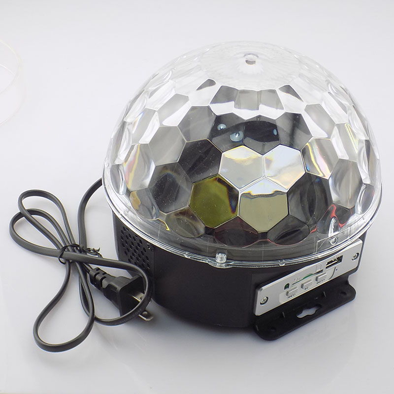 DMX Stage Lighting Effect LED Mini Disco Light Christmas Party KTV DJ Festival Colorful Auto Rotating RGB Bulb Lamp Magic Ball