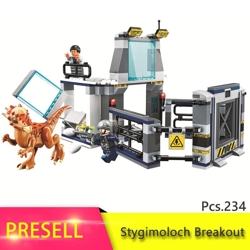 Legoing мир Юрского периода серии Стигимолох Breakout Модель Building Block Кирпич игрушка для детей подарок на день рождения Совместимость 75927