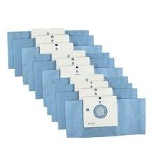 -10Pcs Dust Paper Bag Efficiently Cleaning Fit For V-2940Ral V-Cr132Nbn V-3710Y 2019 gray washable vacuum cleaner filter dust bag for lg v 2800rh v 943har v 2800rh v 2810