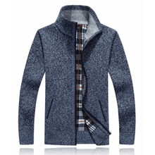 Autumn Winter Warm Knitted Sweater Cardigan Men Thick Winter Wool Sweaters Outwear For Men