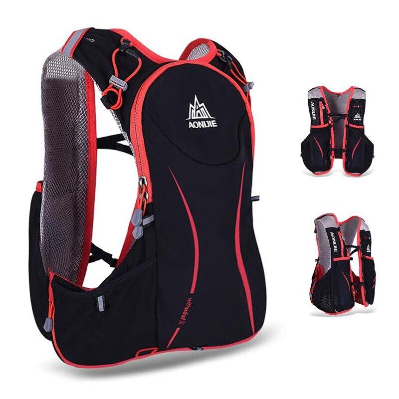AONIJIE 5L Outdoor Running Bag Marathon Hydration Backpack Lightweight Hiking Vest Bag