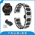 18 мм Керамические и Нержавеющей Стали Ремешок для Huawei Watch Asus ZenWatch 2 женская 45 мм WI502Q Ремешок Butterfly Пряжка Браслет
