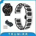 18mm cerâmica & strap aço inoxidável para huawei watch asus zenwatch 2 watchband das mulheres 45mm wi502q butterfly pulseira fivela