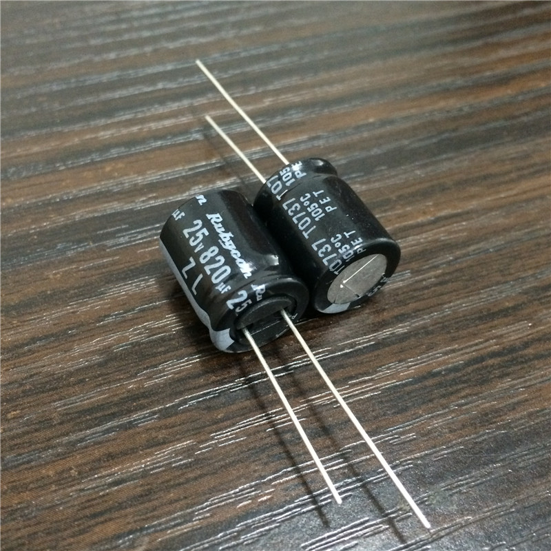 20pcs 820uF 25V 12.5x20mm SAMXON GF 25V820uF High ripple Low Impedance capacitor