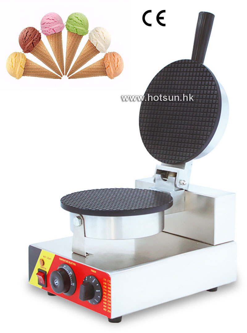 Commercial Nonstick 110V 220V Electric Ice Cream Corn Waffle Maker Iron Machine