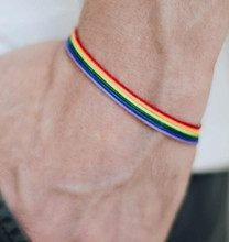 Rainbow Lesbian Lesbians Pride Gay Pride Woven Braided Rope String Strand Friendship Bracelet Exquisite Wristlet(China)