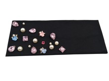 P17292 Fashion new elastic cotton crystal yoga headbands bling bling hair bands colors starfish pearl plain headband for wome