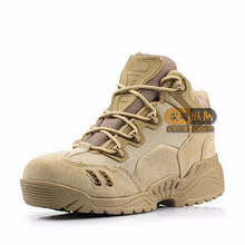 2018 spring and autumn desert boots, military training shoes, flat bottom mens shoes.
