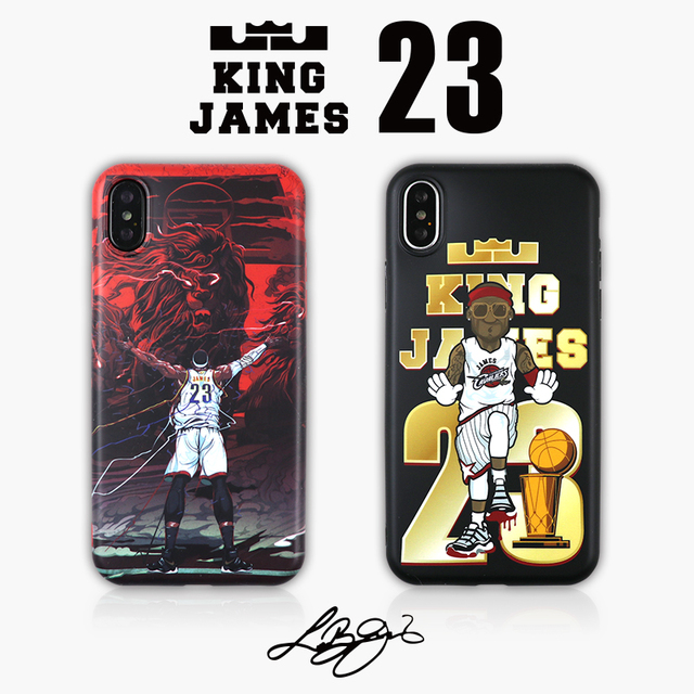 official photos 4d020 b30f6 US $6.49 |For iPhone X Hot NBA Basketball LeBron James 23 King James Cell  Phone Cases For iphone 6 6s 7 8 plus Men Cartoon Case Cover-in Fitted Cases  ...