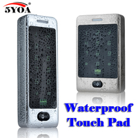 Waterproof Touch Metal RFID Access Control Electronic Door Lock Electric Gate Opener Smart Keypad Case Reader 125khz ID Card