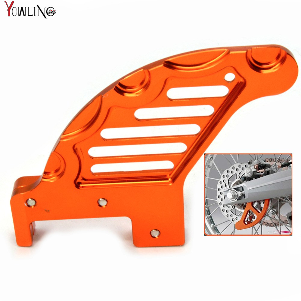 motorcycle accessories cnc aluminum Rear brake disc guard potector for KTM 530 EXCR/XCRW 2008 540 SX 2003-2006 200 EXC 2003-2012 motorcycle front and rear brake pads for ktm sx 144 2008 sx 250 2003 2008 sx 525 2003 2006 sintered brake disc pad