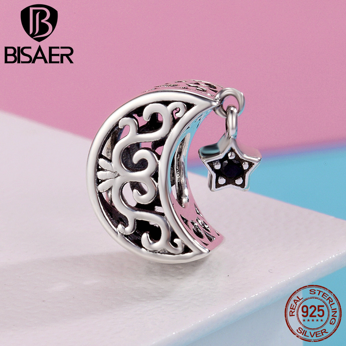 Sterling Silver 925 Sweet Cute Lovely Mickey Minnie Pave Clip Charm ...