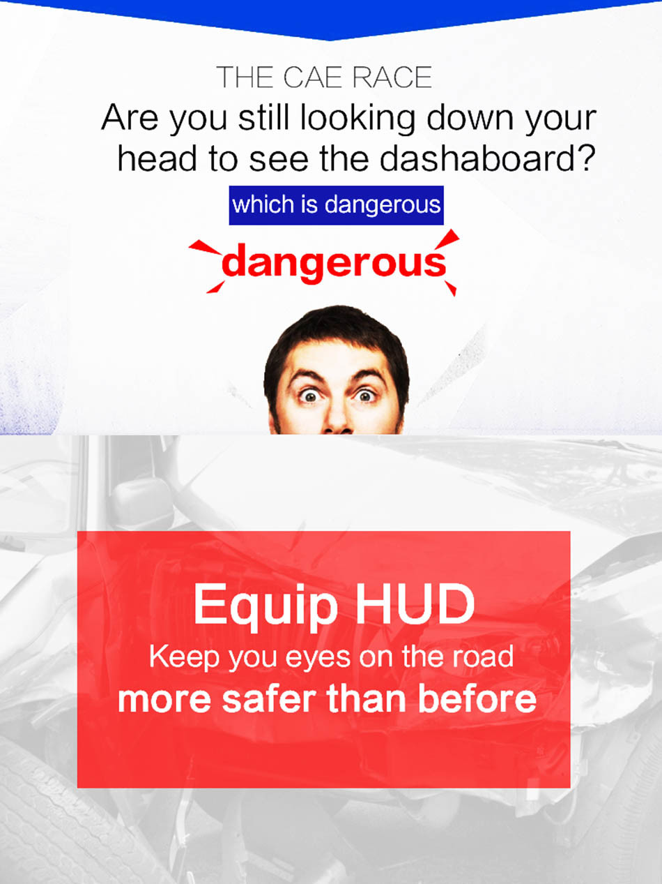 Universal Q7 5.5 Auto Car HUD GPS Head Up Display OBD II 2 Overspeed Warning Alarm Dashboard Windshield Project Speedometers-2