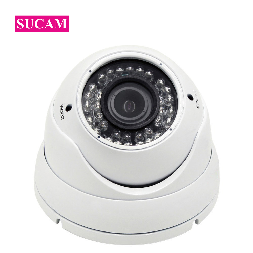 SUCAM SONY326 Indoor 5MP AHD Varifocal CCTV Camera 2.8-12mm Home Security Video Surveillance Vandalproof Camera 30M IR Distance sucam 1 0mp home ahd security camera 720p 20 meters ir nano led light infrared ir surveillance camera pal ntsc easy installtion