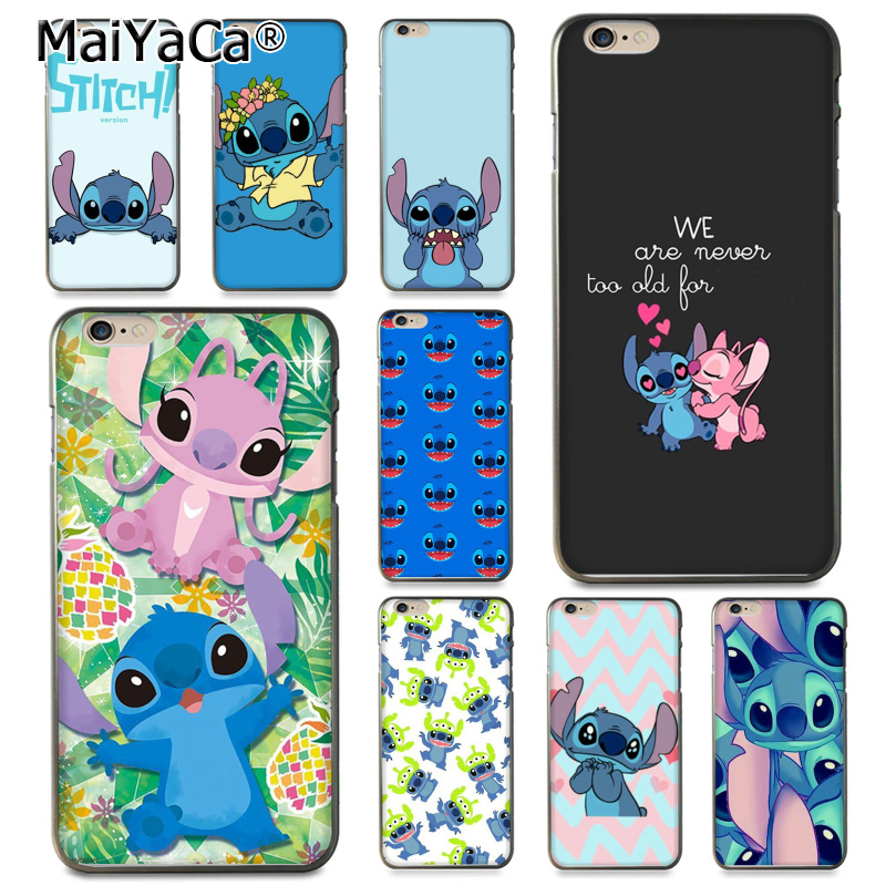 MaiYaCa For iphone 7 6 X Case cute cartoon Lilo Stitch Coque Shell Phone Case for Apple iPhone 8 7 6 6S Plus X 5 5S SE 5C Cover in Half wrapped Cases from Cellphones Telecommunications