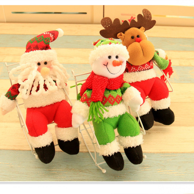 1157eb662 Christmas Santa Claus Snowman Elk Innovative plush Dolls Baby Plush Toy Cute  Stuffed Toys Kids Girls Birthday Christmas Gift