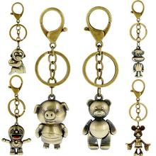 Accessories SteamPunk Cartoon Key chains Fashion Alloy Vintage Leather Chain For Men Women Car Styling Keychain Wholesale