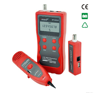 Cable tester wire tracker with RJ11 RJ45 1394 Lines 5/6E Coaxial/USB BNC cables telephone lines cable tracer