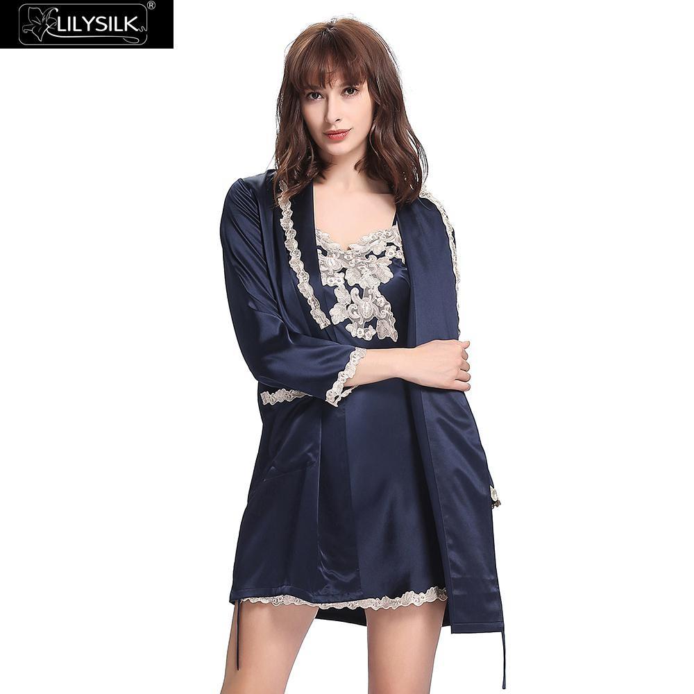 efa026f08dc Lilysilk Robes Nightdress Sensitive Skin Female Natural Silk 22 ...