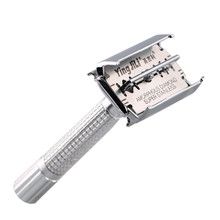 Safety Razor Chrome Alloy Top Quality with Packing Sliver Unscrew The Two-sided turret Manual Shaving Razor with Portable Box