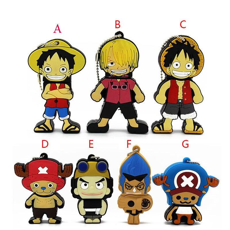 Pen Drive One Piece USB Flash Drive 4GB 8GB 16GB 32GB 64GB USB 2.0 Cartoon Gift U Disk