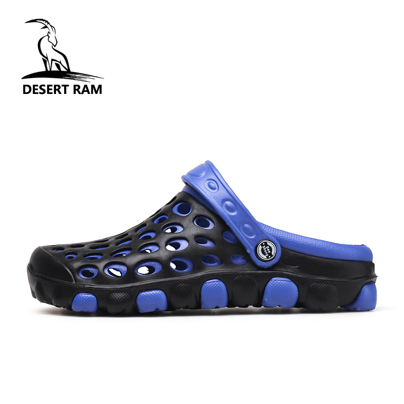 DESERT RAM Brand 2018 Fashion Sandals Eva Clogs Swimming Shoes Men Croc Band Summer Water Black White Air Beach Garden Mens Shoe ...
