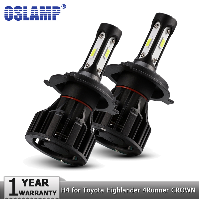 Oslamp H4 LED Car Headlight Bulb Hi lo 12v 8000lm Auto Headlamp Fog Light for Toyota Highlander 4Runner Avalon CROWN PRODO PRIUS