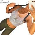Athleisure sutiã venda quente 2016 de fitness magro sexy malha splice parte superior do tanque de moda bandage cropped tops atividade push up bralette venda