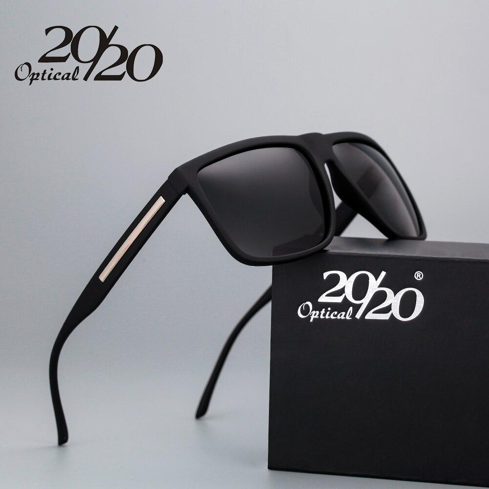 20/20 marke Mode Schwarze Sonnenbrille Männer Polarisierten Driving Sonnenbrille Mode Männlichen Oculos Gafas Brillen PL207