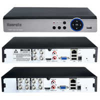 Hamrolte 5MP AHD DVR 4CH/8CH 5 In 1 HYBRID Security Recorder For 5MP/4MP 1080P AHD TVI CVI Analog Camera Motion Detection Xmeye