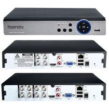 Hamrolte 5MP AHD DVR 4CH/8CH 5 In 1 IBRIDO Registratore di Sicurezza Per 5MP/4MP 1080 P AHD TVI CVI Analog Camera di Rilevamento del Movimento Xmeye