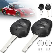 2Pcs 2 Buttons Lock Unlock Car Remote Fob Key Case Shell With font b Battery b