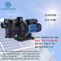 Еуропумп модель (SPE17/15 D48/500) солнечный водяной насос бассейн циркуляционный насос Silent большой поток горизонтальной насоса 48 В 17 M3/ч