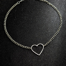 Hollow Heart Choker Necklaces