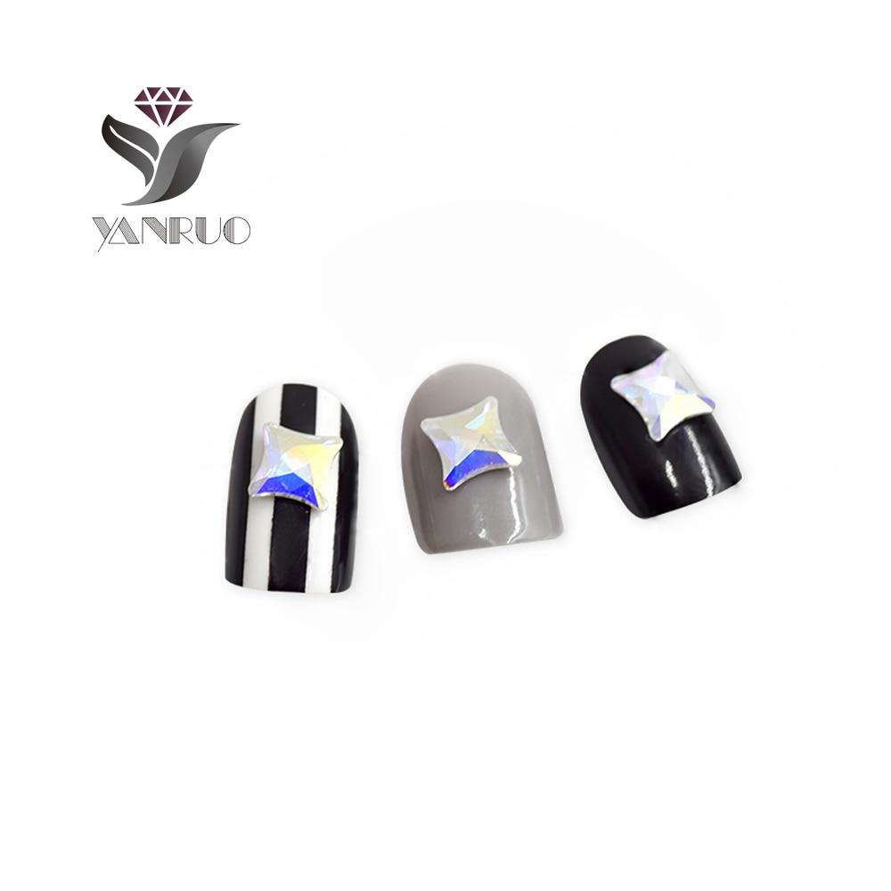 YANRUO 72pcs 6mm AB Crystal Starlet Flatbacks No-Hotfix Rhinestones - Dırnaq sənəti - Fotoqrafiya 2