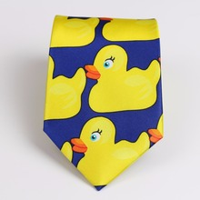 Желтая резиновая утка Профессиональный галстук Горячая ТВ шоу мультфильм Corbatas новизна Барни как я познакомиться с вашей матери галстук с принтом уток