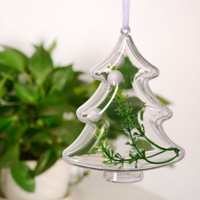 clear plastic craft ball acrylic transparent sphere bauble christmas baubles 5pcs ball christmas tree decorations ornament