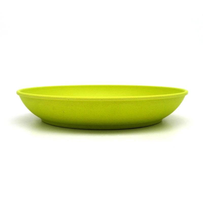 Us 5 76 45 Off Deep Dishes Dinner Plate New Design Bowls Bamboo Fiber Cake White Blue Plates Designer In From Home Garden