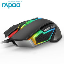 New Rapoo V302  7000 DPI 7 Programmable Buttons Optical Sensor P3320 Backlight Optical Gaming Mouse for Professional Gamer