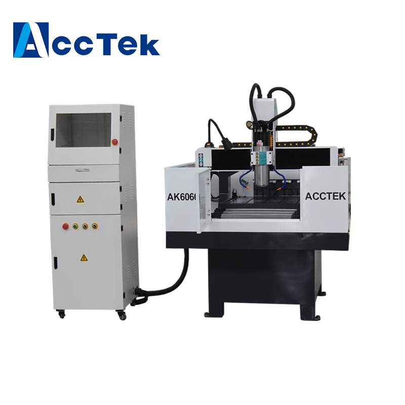 AccTek agent price of High precision mini metal cnc router drilling milling engraving machine for aluminum brass ss iron