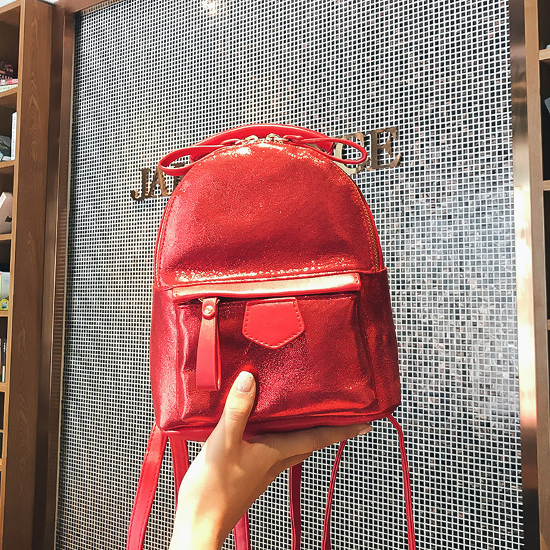 Fashion 2018 laser PU Leather Women Backpack Children Back Pack Small Backpacks For Girls Ladies Shoulder Bags Bling women sequins backpack female fashion bling bling children backpacks mini bags ladies casual shoulder bags for teenager girls