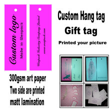 custom printed clothes price paper gift hang tag/logo swing tag/free fee design hangtag