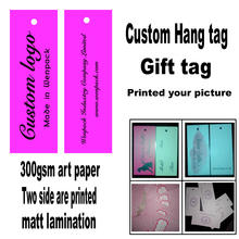 custom printed clothes price paper gift hang tag and garment swing tag
