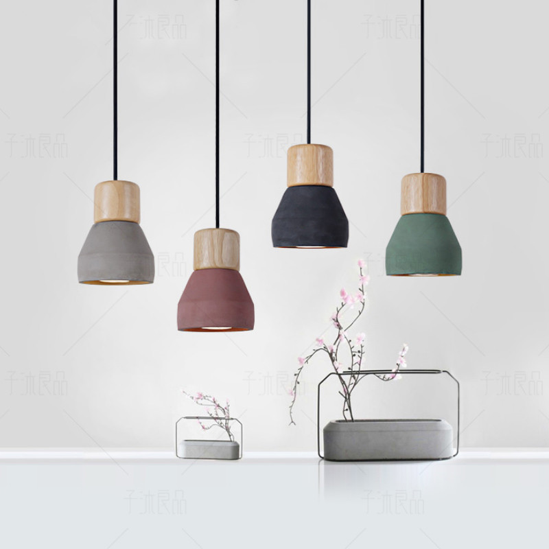 Modern Cement Pendant Light For Kitchen Black Pendant lighting Home Decoration Industrial Hanging Lamp Vintage Loft Lamp 2016 vintage industry modern brief lustre loft sky garden personalized fashion pendant lamp for home decor lighting black 40cm