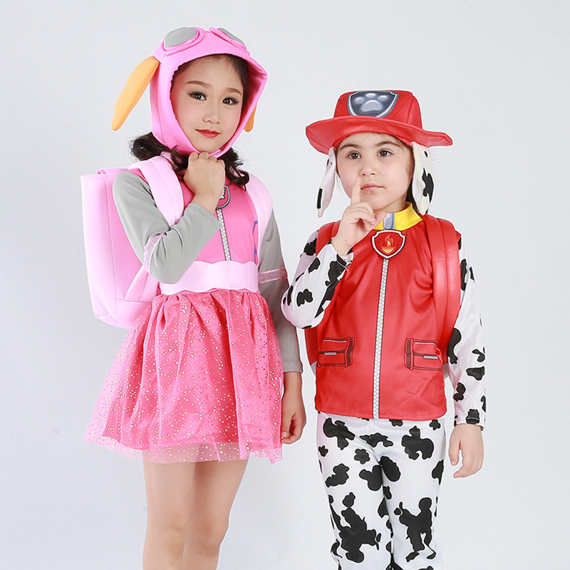 Birthday Party Patrol Dog Costume Kids Boys Girls Skye Marshall Chase Rubble Tracker Everest Costume Halloween Cosplay