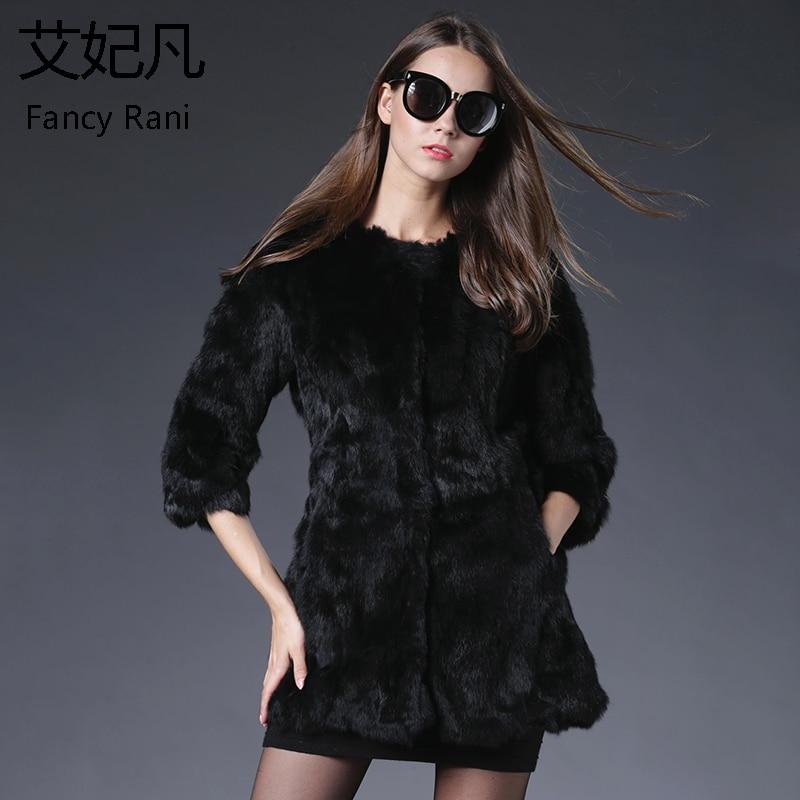Manteau de fourrure de lapin véritable pour les femmes vestes longues manteaux de fourrure véritable femme mode gilet de fourrure hiver chaud naturel manteau de fourrure de lapin